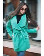 Кашемировое пальто на запах с поясом разные яркие цвета 499