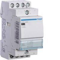 Контактор ESC463 63A, 4НО, 230В, 3м hager, электромагнитный пускатель