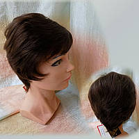 Парик из натуральных волос коричневый NICOLE HH - 6