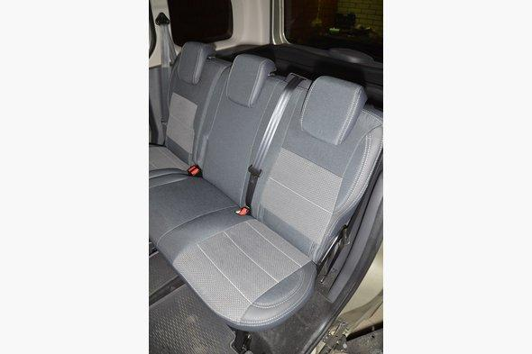 Авточехлы (кожзам+ткань, Premium) - Mercedes Citan 2013+ гг.