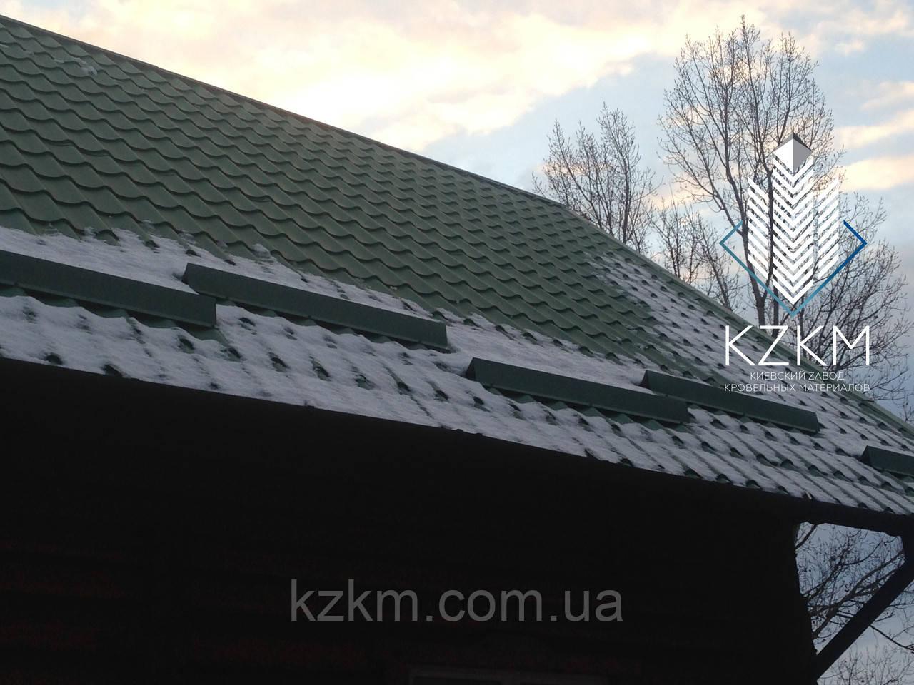 Снегозадержатель для металлочерепицы, снегозадержатель на металлочерепицу, снегозадержание на крыше