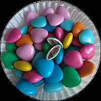 """Драже из молочного шоколада """"Цветные сердца"""" 0,2 кг"""