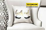 Подушка декоративная ресницы, фото 2
