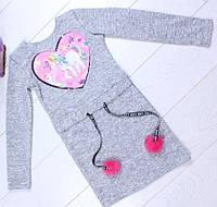 Детское платье Эмбер р.104-134 светло-серое