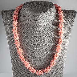Рожевий корал, намисто, 118ОК
