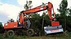 Мульчер лесной, измельчитель деревьев, измельчитель пней, лесной измельчитель на экскаватор TFVMFH , фото 6