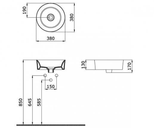 Круглая раковина BOCCHI LUNA 1174-019-0125, фото 2