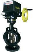 Затвор поворотный дисковый запорно-регулирующий с электрическим исполнительным механизмом (ЭИМ) ЗПДЭ PN1,6МПа