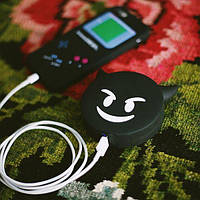 Портативная батарея эмоции чертенок (черный)