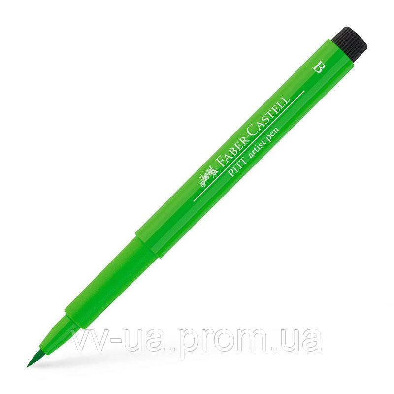 Ручка Faber-Castell PITT, B, зеленый лист 167412 (16950)