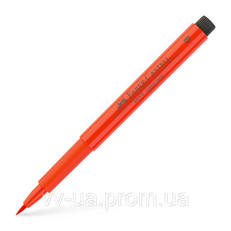 Ручка Faber-Castell PITT, B, ярко-красный 167418 (16952)