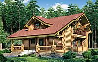 Дом из оцилиндрованного бревна, фото 1
