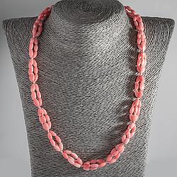 Рожевий корал, намисто, 119ОК