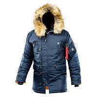 Оригинальная зимняя куртка аляска  AIRBOSS Winter Parka 171000123221 (синяя)