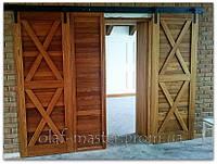 Раздвижные двери из дуба в стиле Кантри