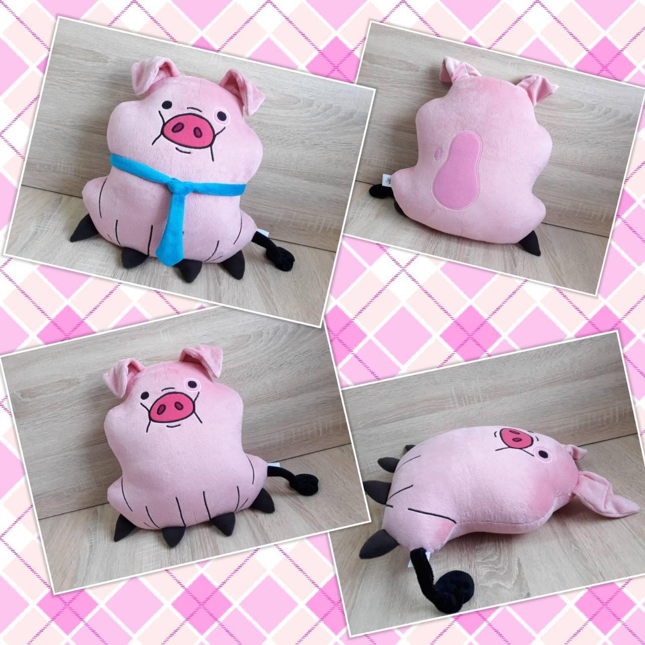 Мягкая игрушка - подушка свинка Пухля (Вадлс) из Гравити Фолз, ручная работа