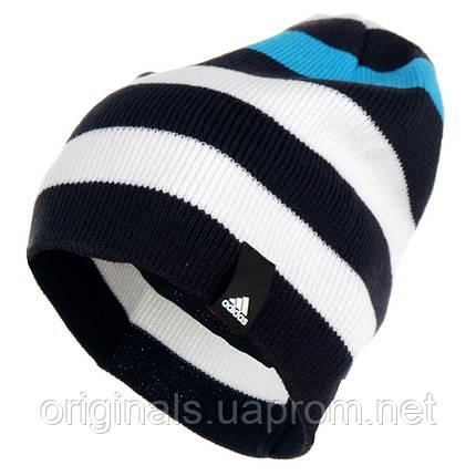 Фирменная шапка Adidas Striped Beanie M66611, фото 2