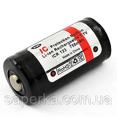 Аккумулятор 16340 (CR123) 750mAh AW