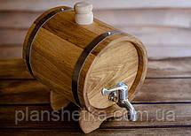 Дубовая бочка жбан для алкоголя 10 литров, фото 2