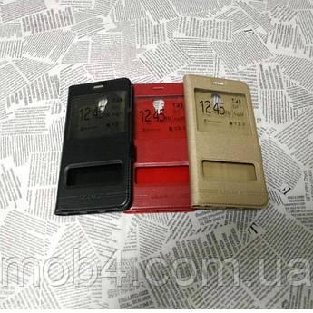 Кожаный чехол книжка Momax для Meizu (Мейзу) M5 Note (золото и красный)
