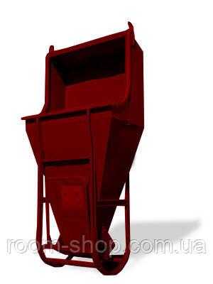 """Бадья """"Туфелька"""" (лапоть, бункер, емкость) для бетона объем 1.5 куб.м."""