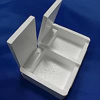 Мотыльница двойная с отдельными крышками 11х3х2,5см(9995409)