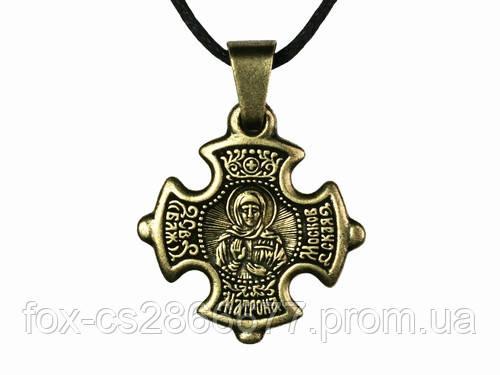 Нательный крест Матрона