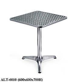Квадратный стол ALT 6010, алюминиевый