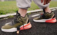 "Кроссовки Nike Air Force 270 Medium ""Olive"" (Зеленые), фото 1"