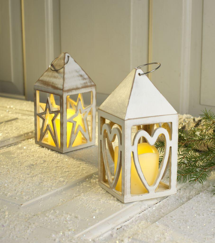 Светильник деревянный домик LED