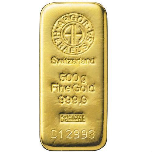 Слиток золота 500 грамм Летой Argor-Heraeus