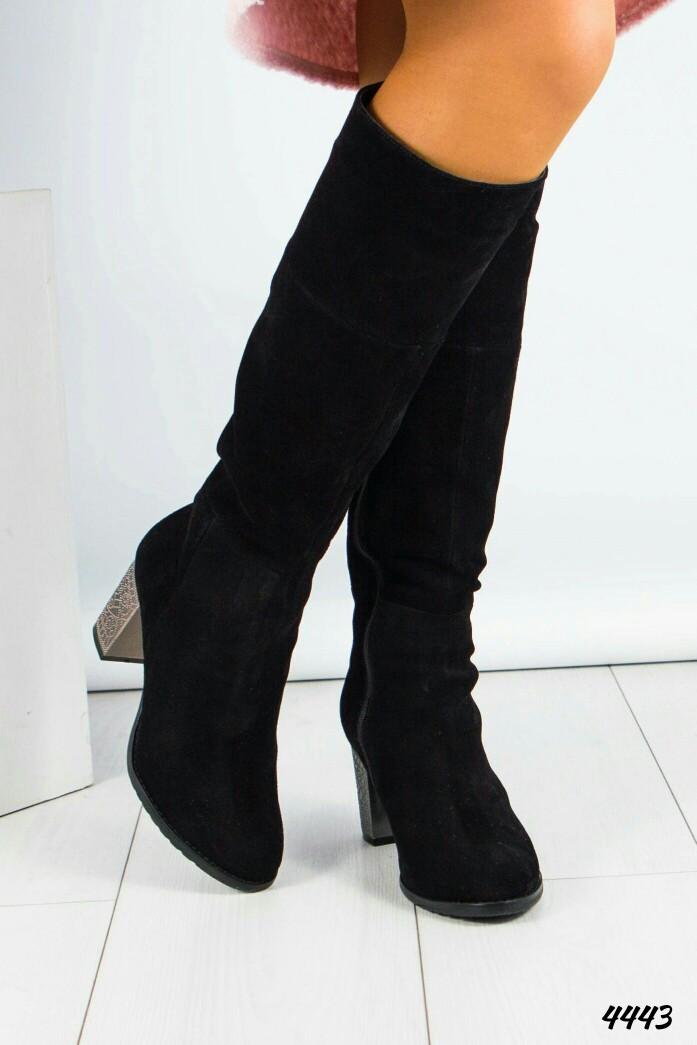 Сапоги женские на среднем каблуке