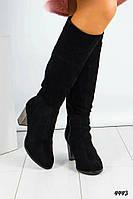 Сапоги женские на среднем каблуке, фото 1