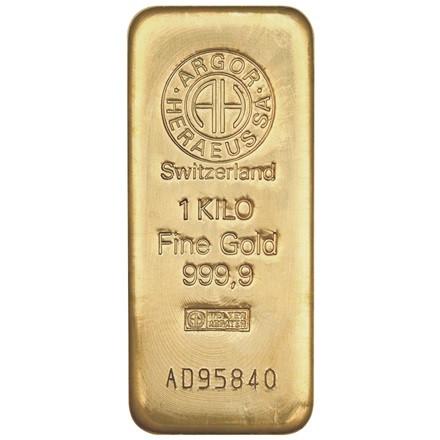Слиток золота 1000 грамм Летой Argor-Heraeus (НОВЫЙ)