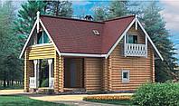 Дом из профилированного цилиндрованого бревна
