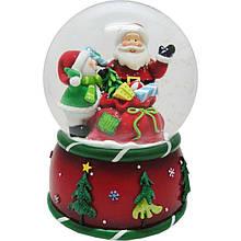 Сувенир Новогодько Дед Мороз водный шар музыкальный