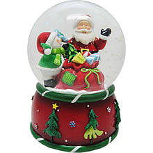 Сувенір Новогодько Дід Мороз водний куля музичний