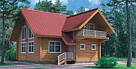 Загородный дом из оцилиндровки