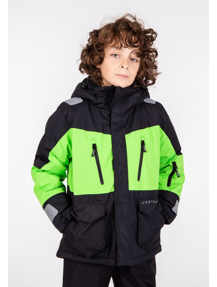Зимняя горнолыжная термо куртка для мальчика  Just play  128 - 164