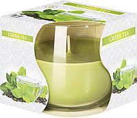 Ароматизированная свеча Зелёный чай Bispol