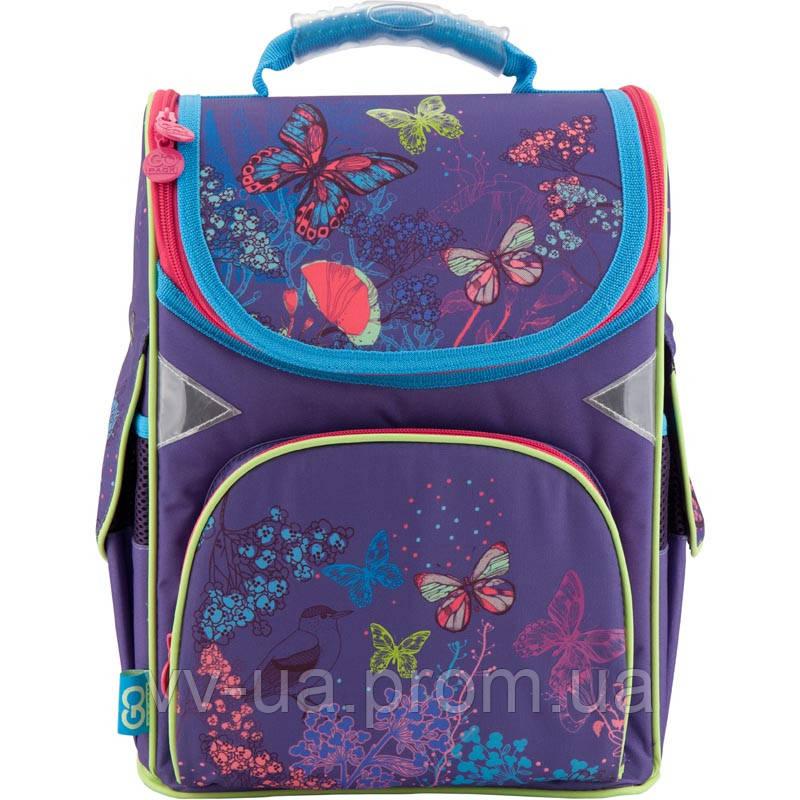 Рюкзак школьный каркасный GoPack 5001S-22 фиолетовый, принт (GO18-5001S-22)