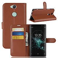 Чехол для Sony Xperia XA2 Plus / H4413 книжка PU-Кожа коричневый