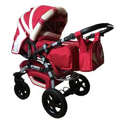 Универсальная коляска-трансформер Trans baby Prado lux 9/crem