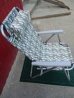 Кресло-шезлонг раскладное с подушкой камуфляж