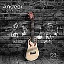Электроакустическое концертное укулеле Andoer UK24-EA, фото 8