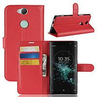 Чехол для Sony Xperia XA2 Plus / H4413 книжка PU-Кожа красный