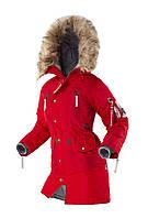Женская зимняя куртка аляска Airboss N-3B Vega (красный металлик)