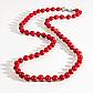 Червоний корал, Ø6 мм, намисто шнурок, 121ОК, фото 2