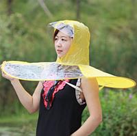 """Дождевик """"Зонт с капюшоном"""" L: 145-170см, желтый"""