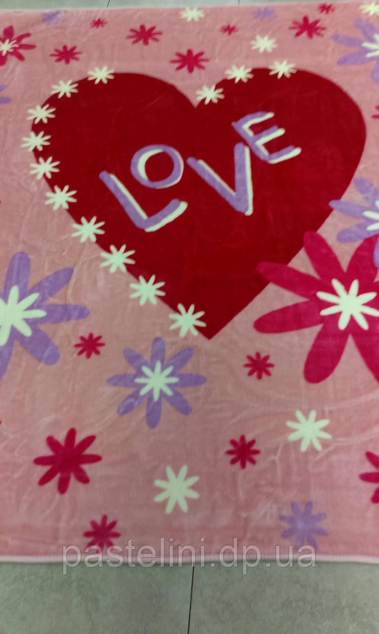 Плед акриловый Mink 420 Love 220х240см розовый
